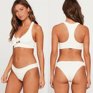 L*Space Ribbed Tara Racerback Bow Bikini Top